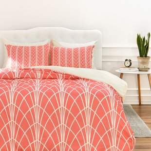 Ivy Bronx Spence Persimmon Duvet Cover Set