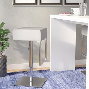 Sophocles Adjustable Height Swivel Bar Stool Wade Logan