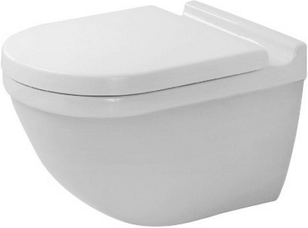 Duravit Starck 3 Dual Flush Round Toilet Bowl Seat Not Included Reviews Wayfair