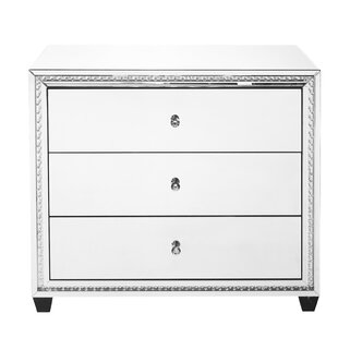 Laster Crystal 3 Drawer Accent Chest by Rosdorf Park
