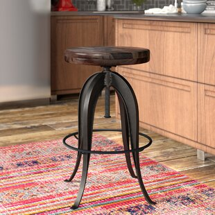Grigor Adjustable Height Swivel Bar Stool 17 Stories
