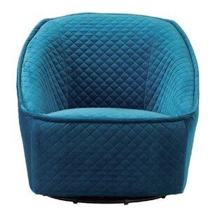 Foner Swivel Barrel Chair by Latitude Run
