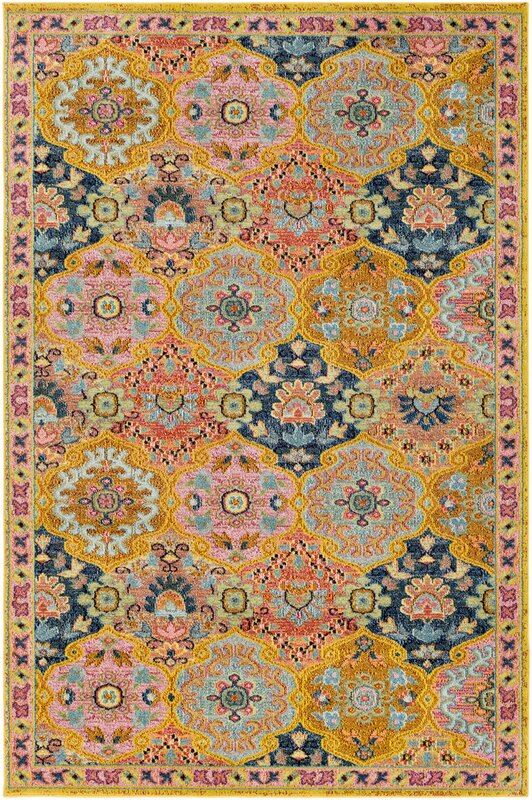 nichole oriental yellow area rug