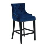 Lundberg Button Tufted 27 Bar Stool by Mercer41