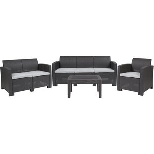 Fairbanks 4 Piece Conversation Set with Cushions