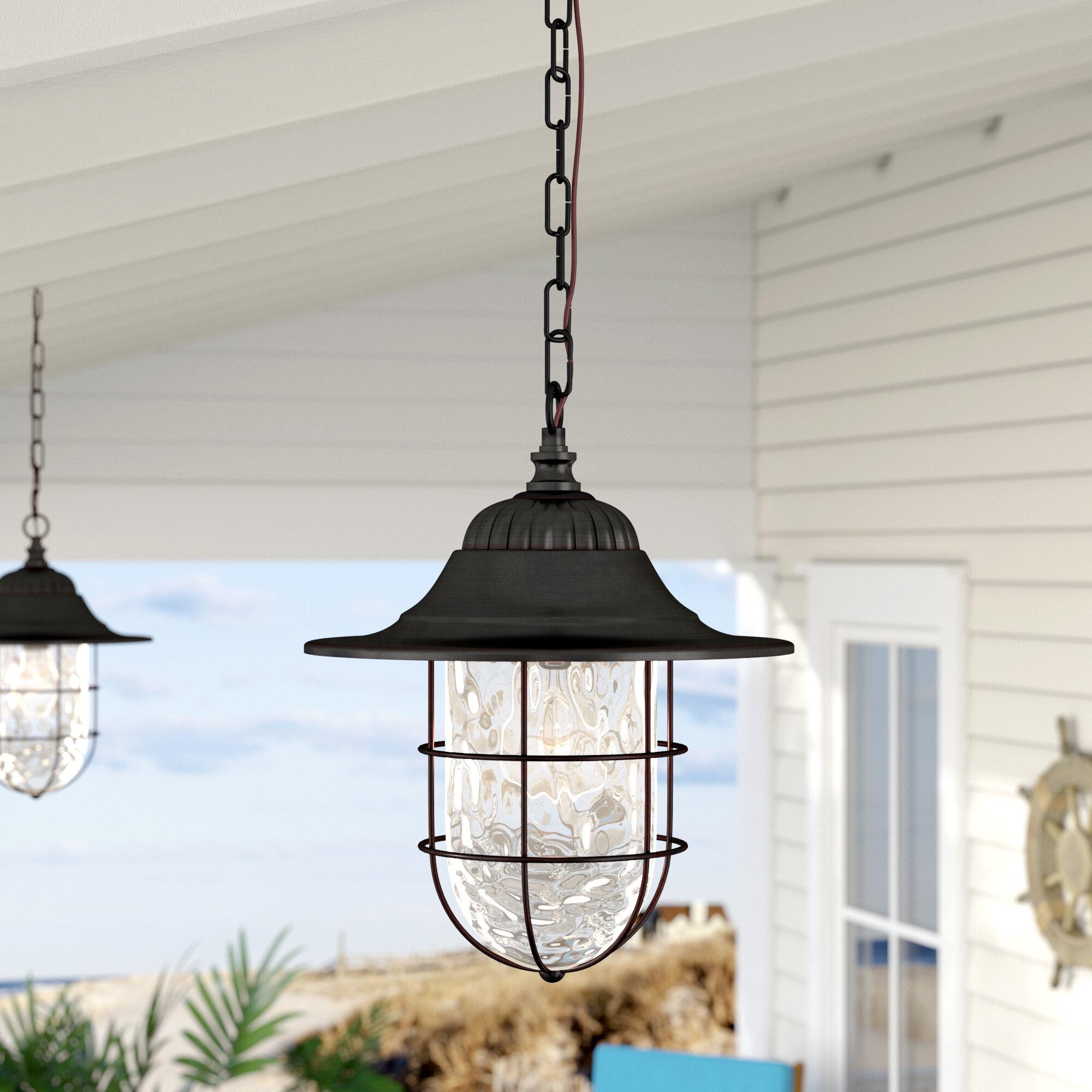 Breakwater Bay Stanley 1 Light Outdoor Hanging Lantern Reviews Wayfair