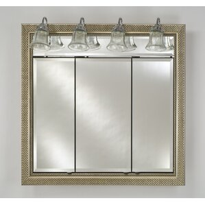 Bathroom Vanity Lights Over Medicine Cabinet top lighting medicine cabinets you'll love | wayfair