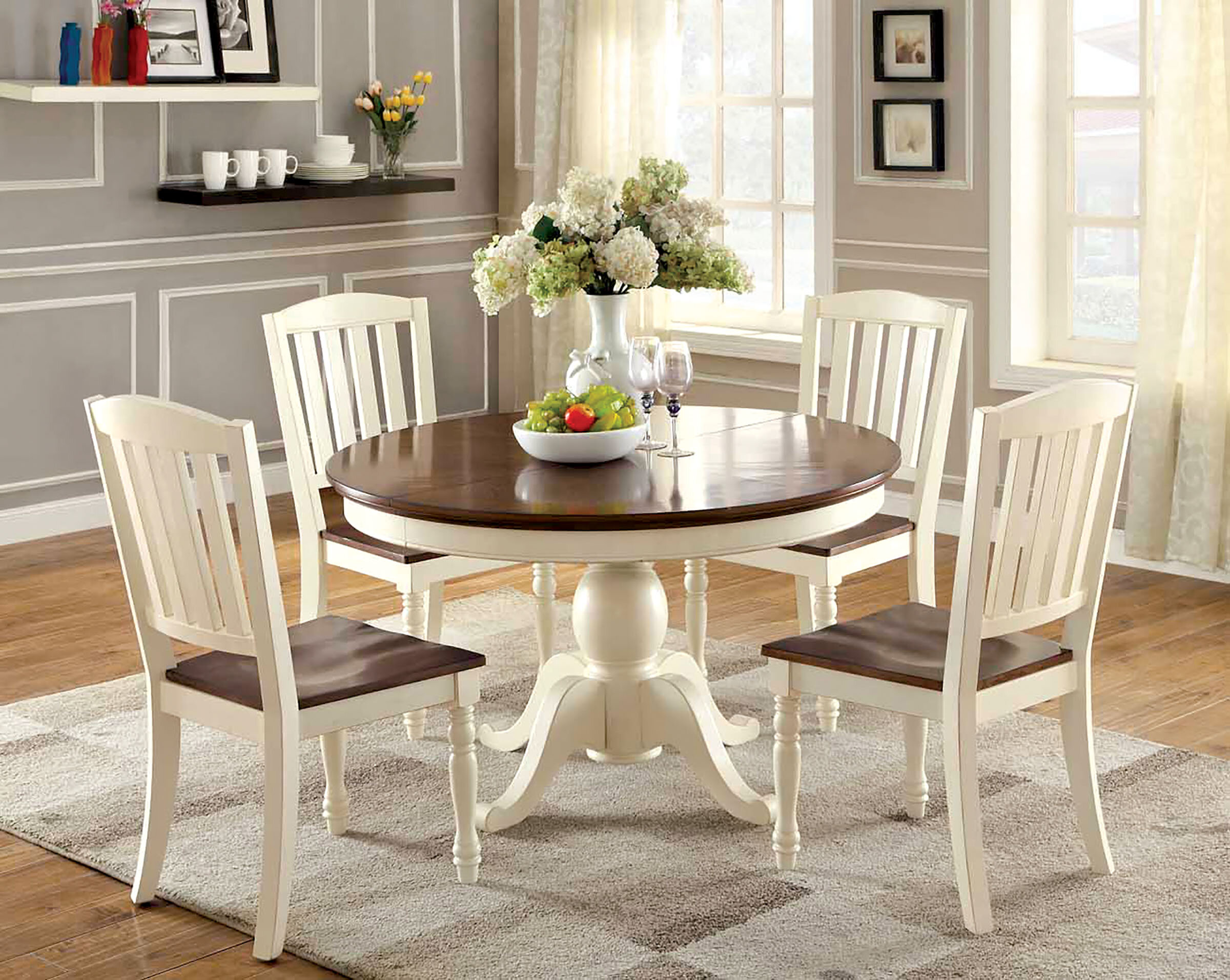 Oval Solid Wood Dining Table