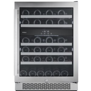 46 Bottle Dual Zone Built-In Wine Cooler by Aval..