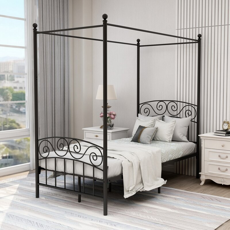 Charlton Home Tyler-Jay Canopy Platform Bed