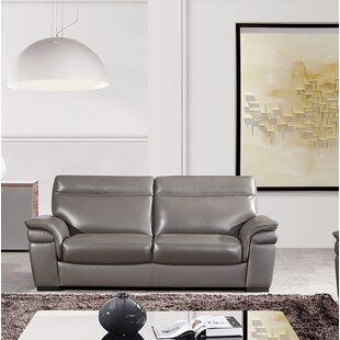 Latitude Run Ullery Leather Loveseat