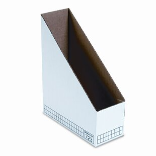 Bankers Box® Corrugated Cardboard Magazine File, 3-7/8 x 9-1/4 x 11-3/4, White, 12/Ctn