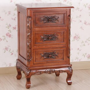 Lacey Hand Carved End Table