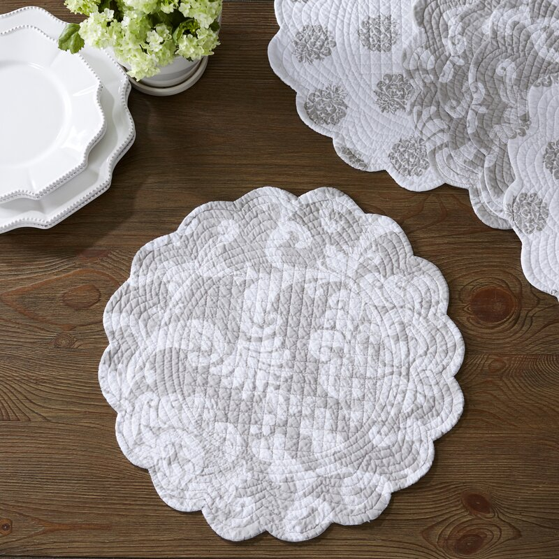 Harpole Round Quilted Placemats