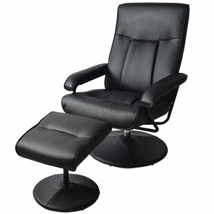 Reclining Massage Chair with Ottoman by Ebern Designs