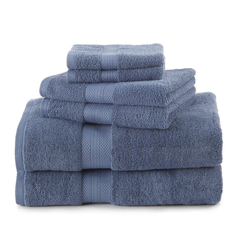 100/% Luxury Combed Cotton Royal Velvet 6 Piece Towel Bale