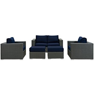 Tripp 5 Piece Sunbrella Sectional Set with Cushions by Brayden Studio