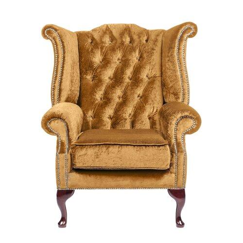 Aldo Wingback Chair Willa Arlo Interiors Colour: Gold