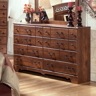 August Grove Elle 8 Drawer Double Dresser with Mirror