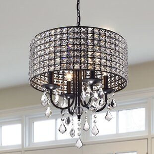 Willa Arlo Interiors Albano 4-Light Crystal Chandelier