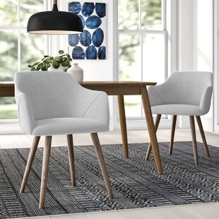 Brie Solid Wood Upholstered Dining Chair (Set of 2)