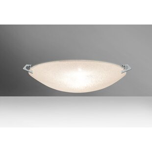 Reviews Sonya 2-Light Outdoor Flush Mount By Besa Lighting