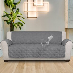 Read Reviews 100 % Waterproof Non-Skip Box Cushion Sofa Silpcover by Red Barrel Studio Reviews (2019) & Buyer's Guide