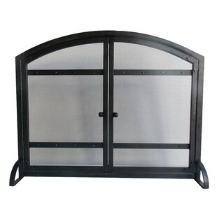 Harper Single Panel Iron Fireplace Screen by Pleasant Hearth