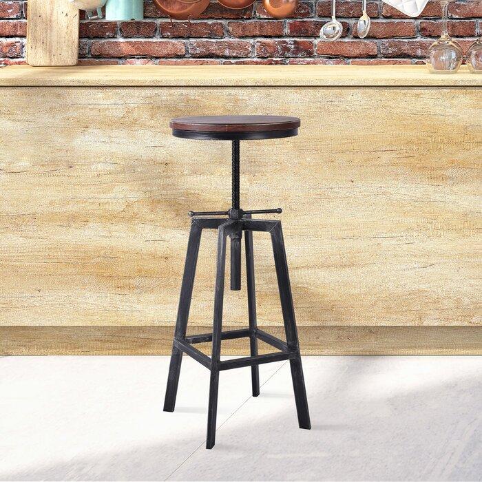 Amazing Boyland Adjustable Height Swivel Bar Stool Andrewgaddart Wooden Chair Designs For Living Room Andrewgaddartcom