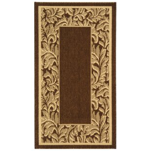 Short Brown / Natural Outdoor Runner Rug by Winston Porter