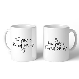 Ring on It 2 Piece Mug Set