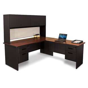 Crivello L-Shape Executive Desk with Hutch