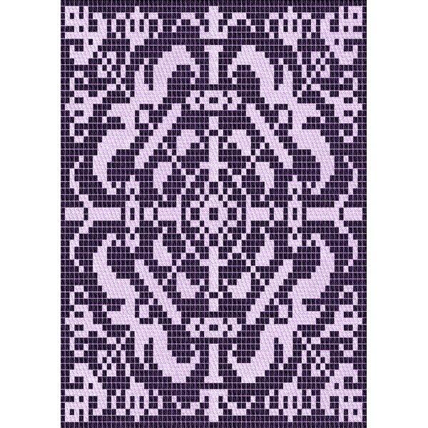 Ebern Designs Geometric Wool Purple Area Rug Wayfair