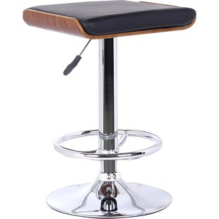 Wade Logan Canchola Adjustable Height Swivel Bar Stool