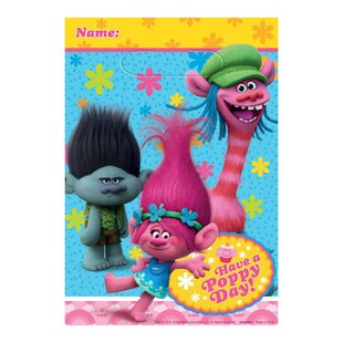 Trolls Paper/Plastic Disposable Favor Bags (Set of 8)