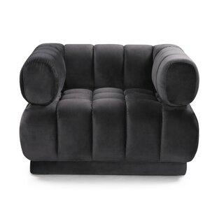 Sina VelvetClub Chair by Everly Quinn