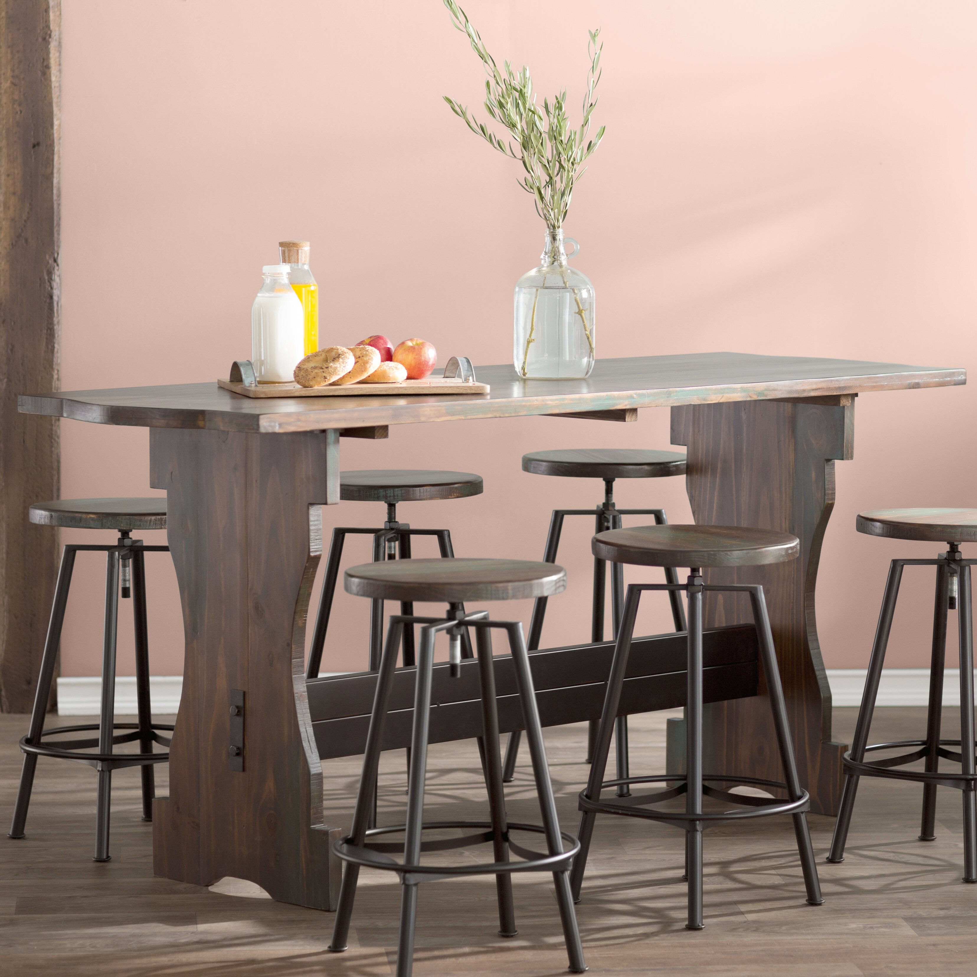 Laurel Foundry Modern Farmhouse Connery 7 Piece Counter Height Pub Table Set | Wayfair : counter height pub table set - pezcame.com