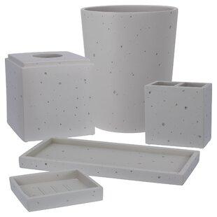 Bargain Dimartino Concrete 5 Piece Bath Accessory Set ByWilliston Forge