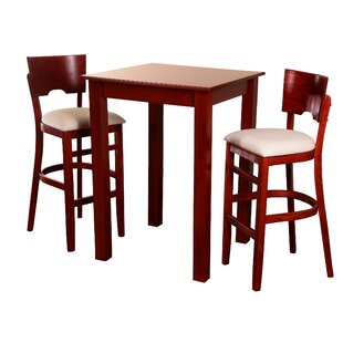 Eaddy Upholstered 3 Piece Pub Table Set