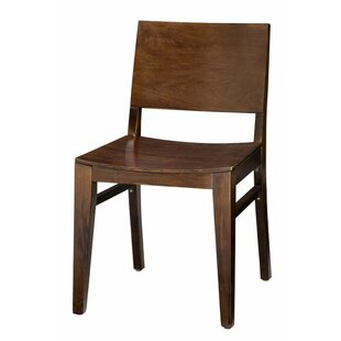 Tipping Beechwood Back Solid Wood Seat Dining Chair Ivy Bronx