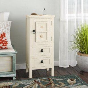 Beachcrest Home Greendale 1 Door 2 Drawer Coastal Accent Cabinet
