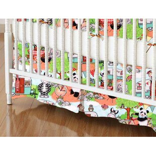 Read Reviews Animal Picnic Crib Skirt By Sheetworld