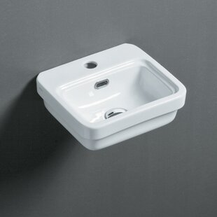 Bissonnet Leavitt Ceramic Rectangular Vessel Bathroom Sink with Overflow
