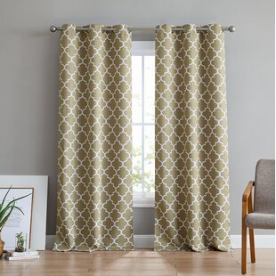 Alverez Insulated Blackout Thermal Grommet Curtain Panels (Set of 2) by Ebern Designs