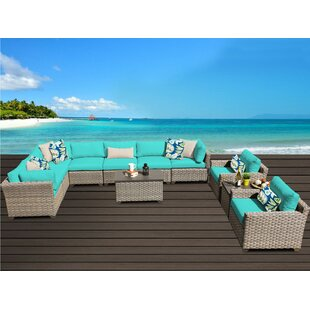 Rochford 11 Piece Sectional Seating Group With Cushions by Sol 72 Outdoor New