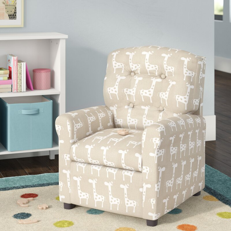 Viv Rae Dorothea Button Tufted Cotton Kids Chair Reviews Wayfair