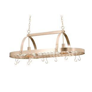 Hanging Pot Rack with 2 Light