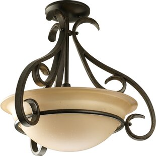Lilly 3-Light Semi Flush Mount by Fleur De Lis Living