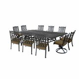 Morocco Aluminum 11 Piece Dining Set with Cushions
