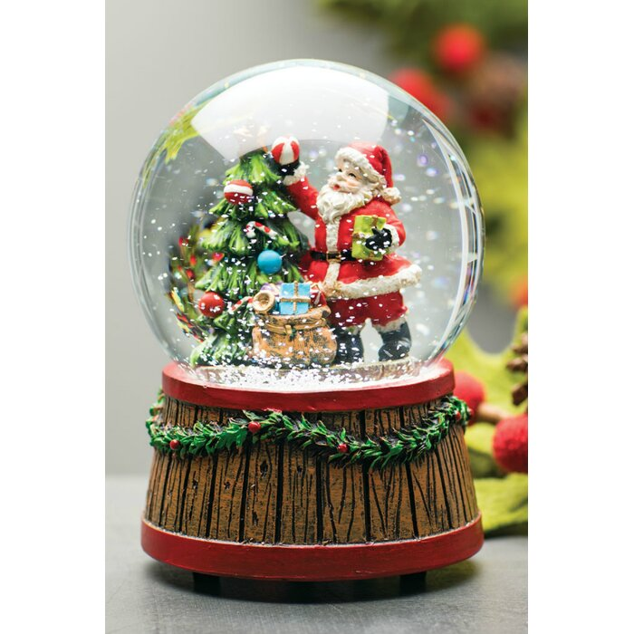 Santa Tree Music Snow Globe